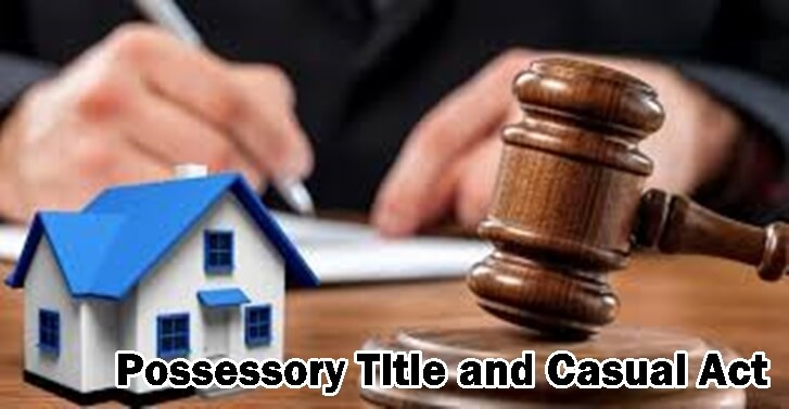 When does a Person Have Possessory Title over Property in India