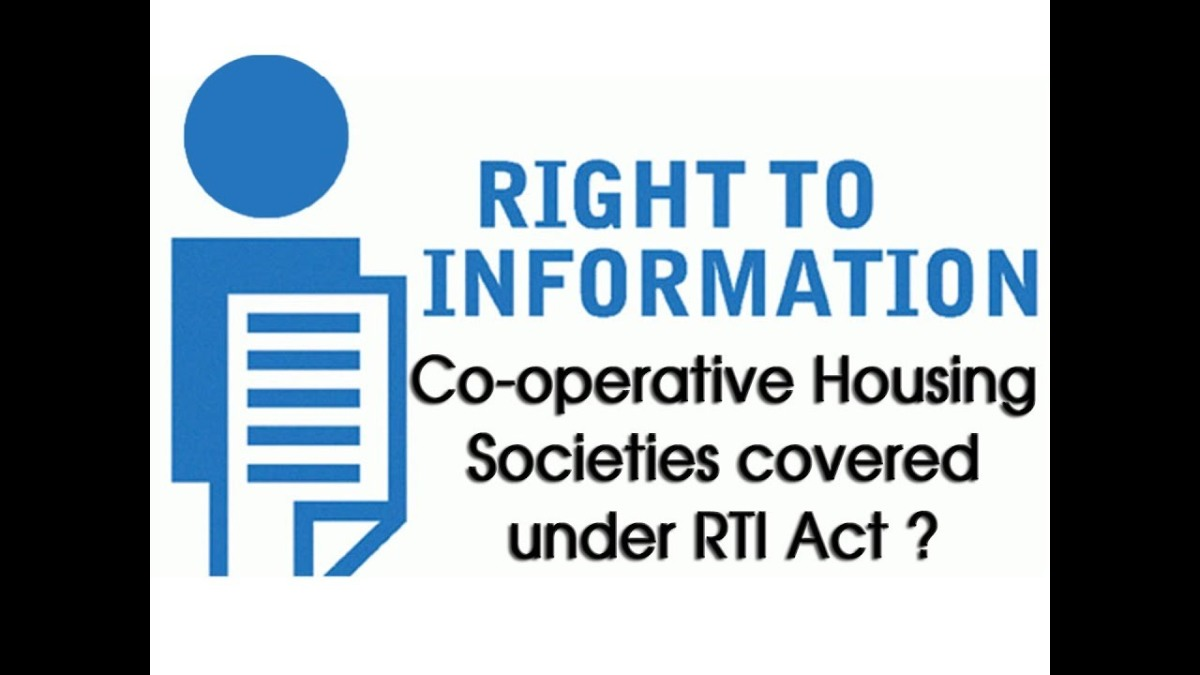 Do Co-Operative Housing Societies Come Under Right to Information Act (RTI)?